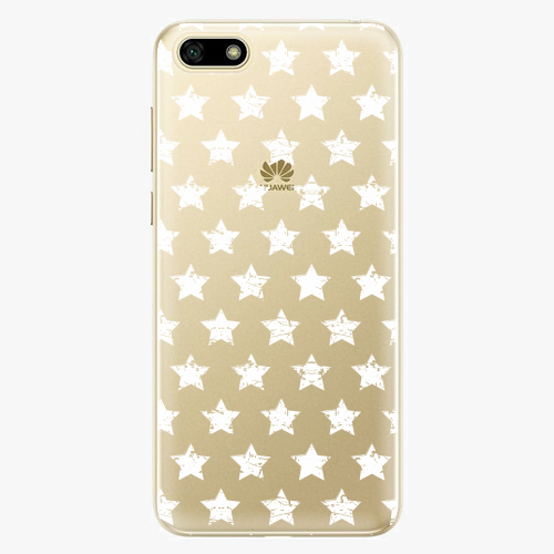 Silikonové pouzdro iSaprio - Stars Pattern white na mobil Huawei Y5 2018