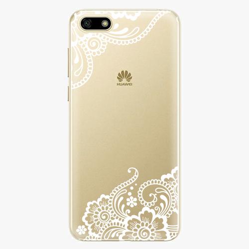 Silikonové pouzdro iSaprio - White Lace 02 na mobil Huawei Y5 2018