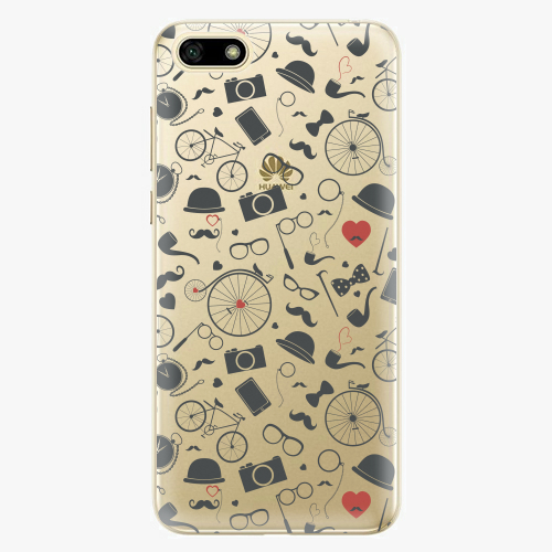 Silikonové pouzdro iSaprio - Vintage Pattern 01 black na mobil Huawei Y5 2018