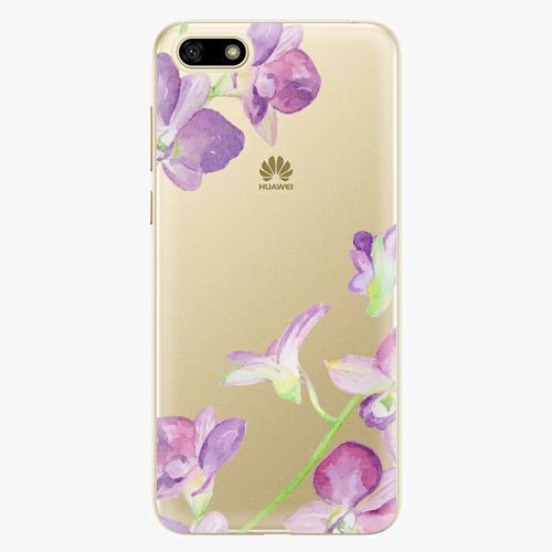 Silikonové pouzdro iSaprio - Purple Orchid na mobil Huawei Y5 2018