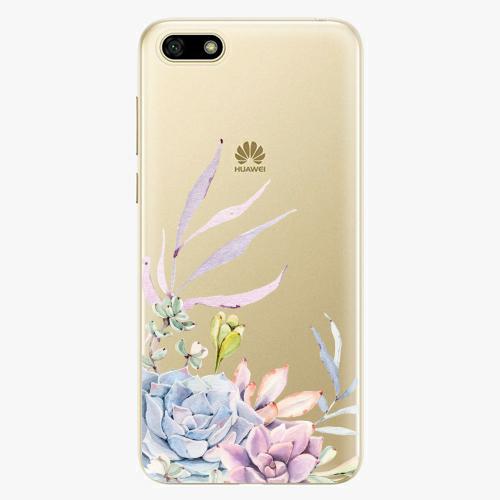 Silikonové pouzdro iSaprio - Succulent 01 na mobil Huawei Y5 2018