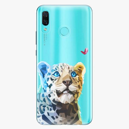 Silikonové pouzdro iSaprio - Leopard With Butterfly na mobil Huawei Nova 3
