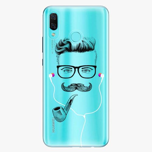 Silikonové pouzdro iSaprio - Man With Headphones 01 na mobil Huawei Nova 3