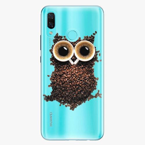 Silikonové pouzdro iSaprio - Owl And Coffee na mobil Huawei Nova 3