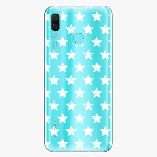 Silikonové pouzdro iSaprio - Stars Pattern white na mobil Huawei Nova 3
