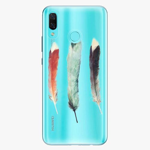 Silikonové pouzdro iSaprio - Three Feathers na mobil Huawei Nova 3