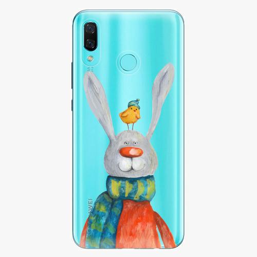 Silikonové pouzdro iSaprio - Rabbit And Bird na mobil Huawei Nova 3
