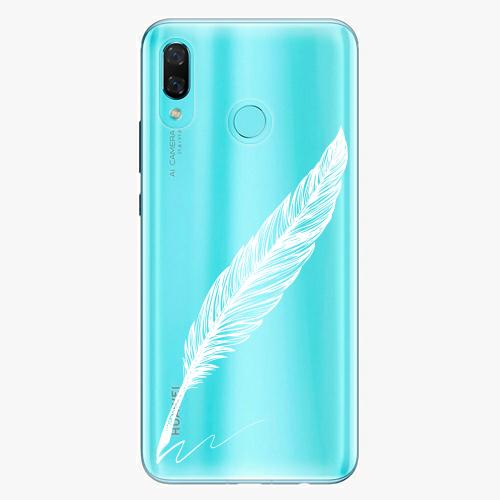 Silikonové pouzdro iSaprio - Writing By Feather white na mobil Huawei Nova 3