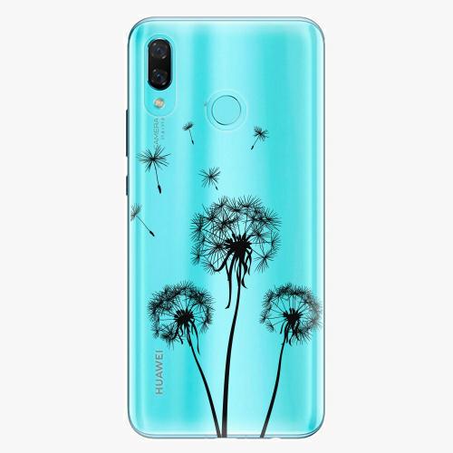 Silikonové pouzdro iSaprio - Three Dandelions black na mobil Huawei Nova 3