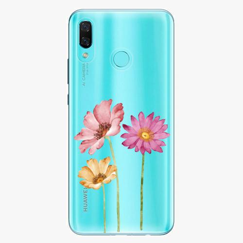 Silikonové pouzdro iSaprio - Three Flowers na mobil Huawei Nova 3