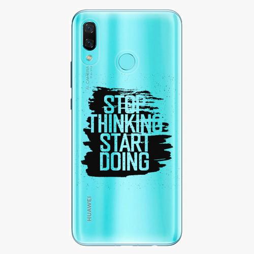 Silikonové pouzdro iSaprio - Start Doing black na mobil Huawei Nova 3