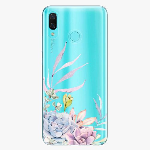 Silikonové pouzdro iSaprio - Succulent 01 na mobil Huawei Nova 3