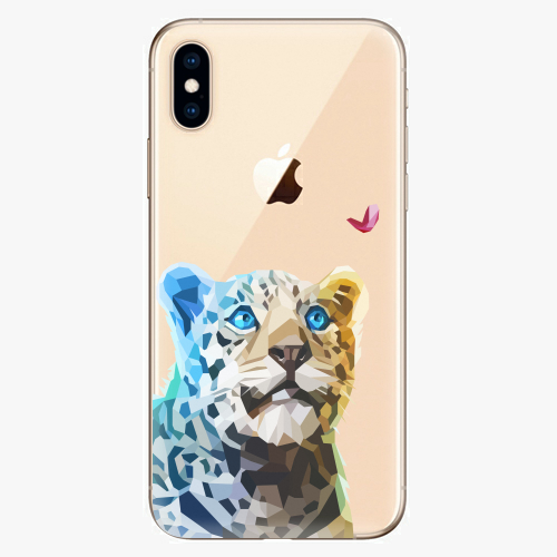 Silikonové pouzdro iSaprio - Leopard With Butterfly na mobil Apple iPhone XS