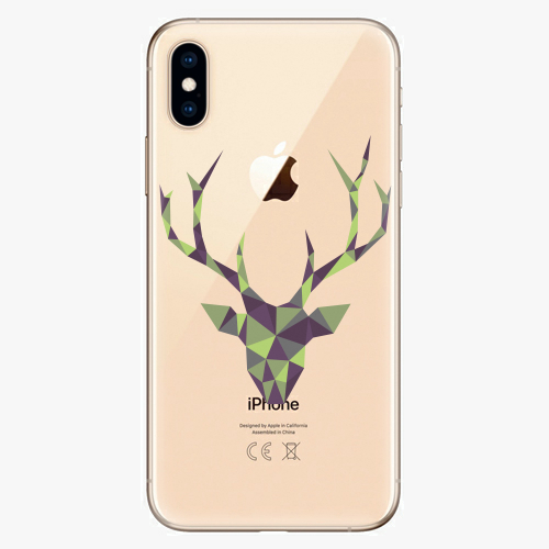 Silikonové pouzdro iSaprio - Deer Green na mobil Apple iPhone XS