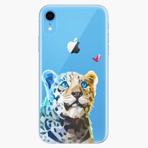 Silikonové pouzdro iSaprio - Leopard With Butterfly na mobil Apple iPhone XR