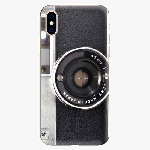 Silikonové pouzdro iSaprio - Vintage Camera 01 na mobil Apple iPhone XS