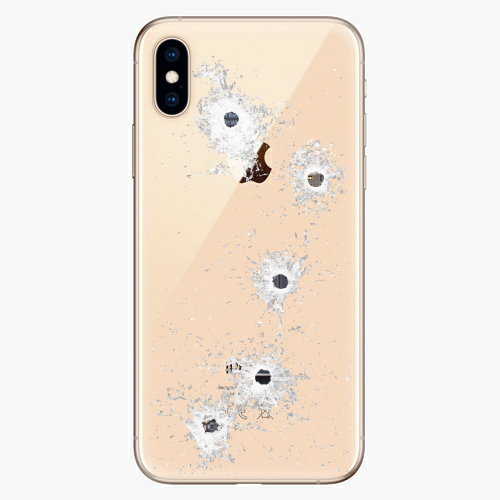 Silikonové pouzdro iSaprio - Gunshots na mobil Apple iPhone XS