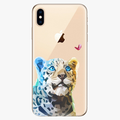 Silikonové pouzdro iSaprio - Leopard With Butterfly na mobil Apple iPhone XS Max