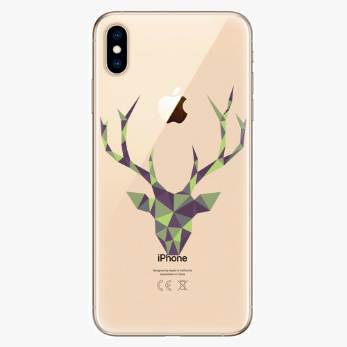Silikonové pouzdro iSaprio - Deer Green na mobil Apple iPhone XS Max