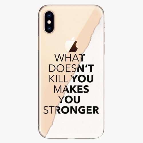 Silikonové pouzdro iSaprio - Makes You Stronger na mobil Apple iPhone XS