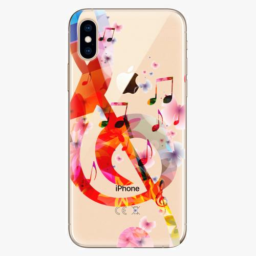 Silikonové pouzdro iSaprio - Music 01 na mobil Apple iPhone XS