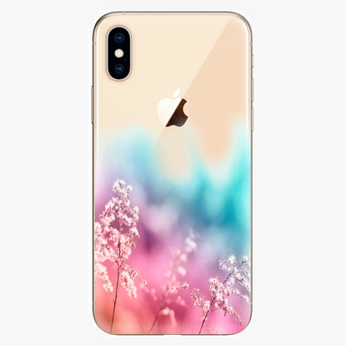 Silikonové pouzdro iSaprio - Rainbow Grass na mobil Apple iPhone XS