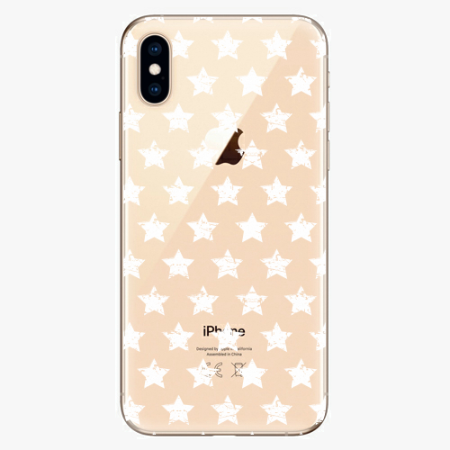 Silikonové pouzdro iSaprio - Stars Pattern white na mobil Apple iPhone XS