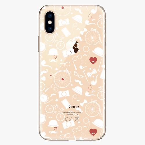Silikonové pouzdro iSaprio - Vintage Pattern 01 white na mobil Apple iPhone XS
