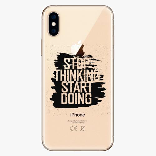 Silikonové pouzdro iSaprio - Start Doing black na mobil Apple iPhone XS