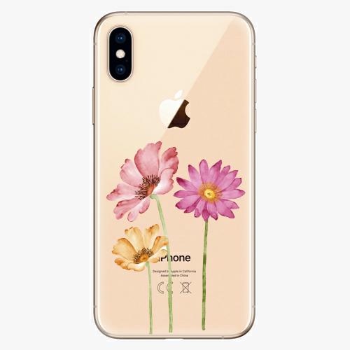 Silikonové pouzdro iSaprio - Three Flowers na mobil Apple iPhone XS