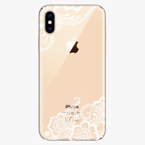 Silikonové pouzdro iSaprio - White Lace 02 na mobil Apple iPhone XS