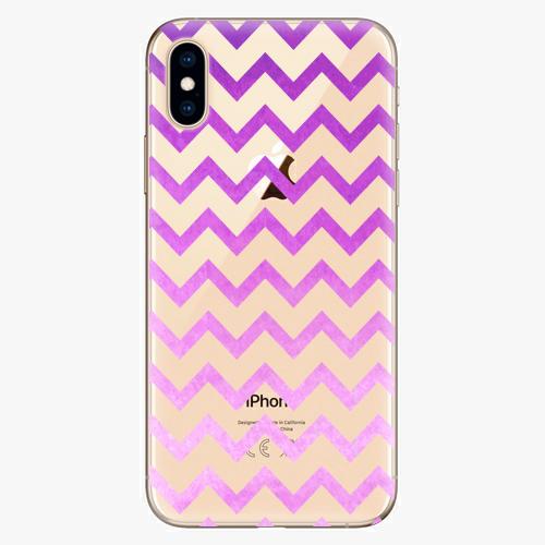 Silikonové pouzdro iSaprio - Zigzag purple na mobil Apple iPhone XS