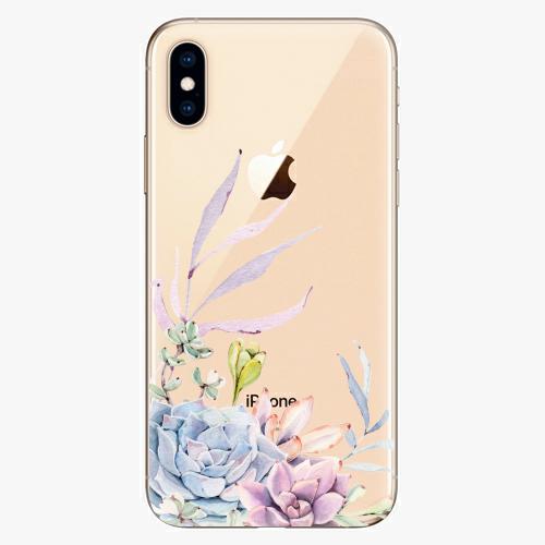 Silikonové pouzdro iSaprio - Succulent 01 na mobil Apple iPhone XS