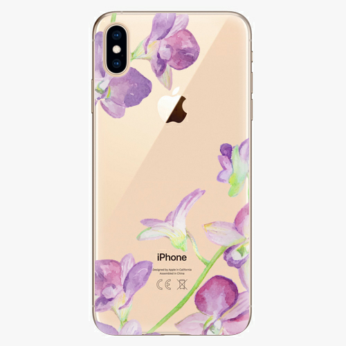 Silikonové pouzdro iSaprio - Purple Orchid na mobil Apple iPhone XS Max