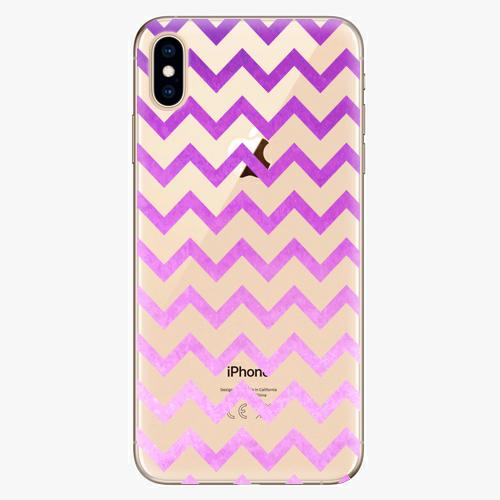 Silikonové pouzdro iSaprio - Zigzag purple na mobil Apple iPhone XS Max