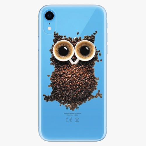 Silikonové pouzdro iSaprio - Owl And Coffee na mobil Apple iPhone XR