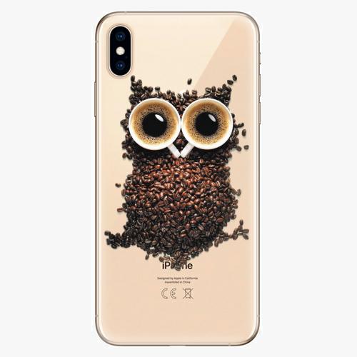 Silikonové pouzdro iSaprio - Owl And Coffee na mobil Apple iPhone XS Max