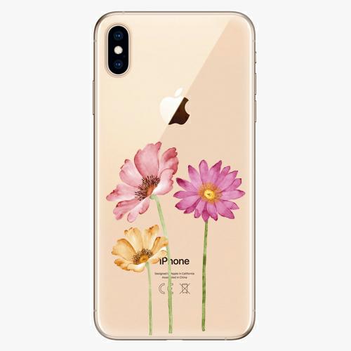 Silikonové pouzdro iSaprio - Three Flowers na mobil Apple iPhone XS Max