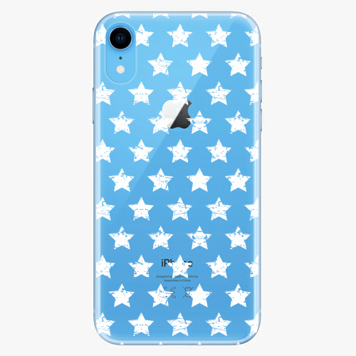 Silikonové pouzdro iSaprio - Stars Pattern white na mobil Apple iPhone XR
