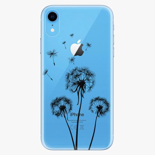 Silikonové pouzdro iSaprio - Three Dandelions black na mobil Apple iPhone XR