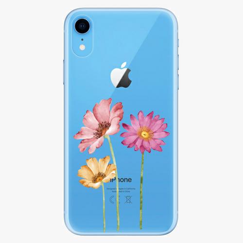 Silikonové pouzdro iSaprio - Three Flowers na mobil Apple iPhone XR