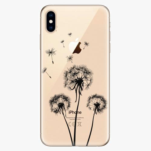Silikonové pouzdro iSaprio - Three Dandelions black na mobil Apple iPhone XS Max