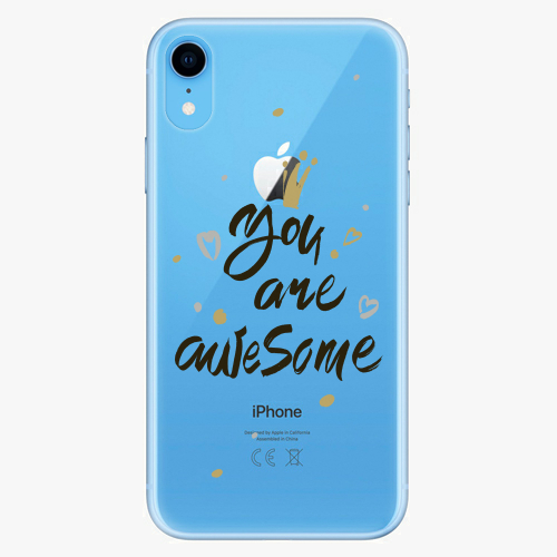 Silikonové pouzdro iSaprio - You Are Awesome black na mobil Apple iPhone XR