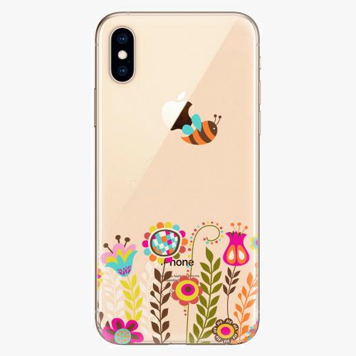 Silikonové pouzdro iSaprio - Bee 01 na mobil Apple iPhone XS