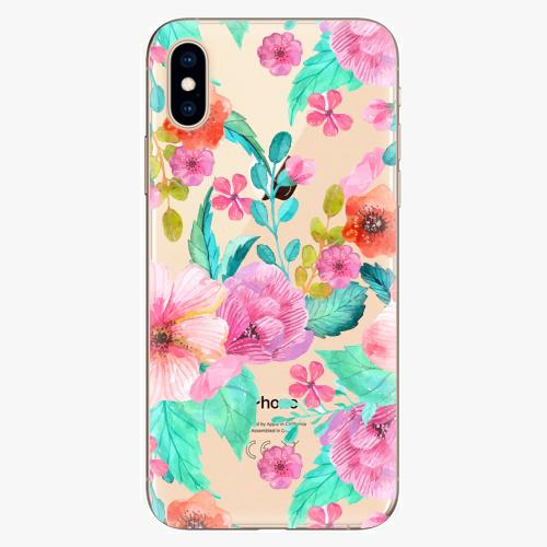 Silikonové pouzdro iSaprio - Flower Pattern 01 na mobil Apple iPhone XS