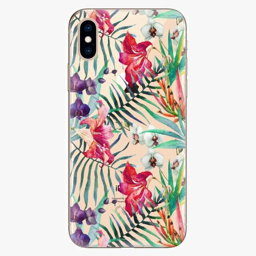 Silikonové pouzdro iSaprio - Flower Pattern 03 na mobil Apple iPhone XS