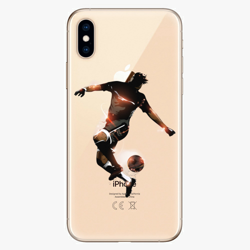 Silikonové pouzdro iSaprio - Fotball 01 na mobil Apple iPhone XS