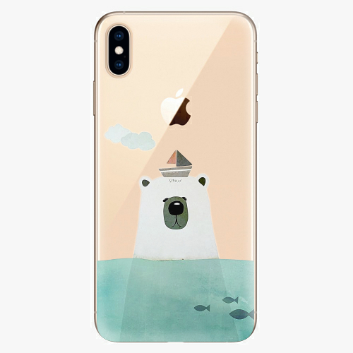 Silikonové pouzdro iSaprio - Bear With Boat na mobil Apple iPhone XS Max