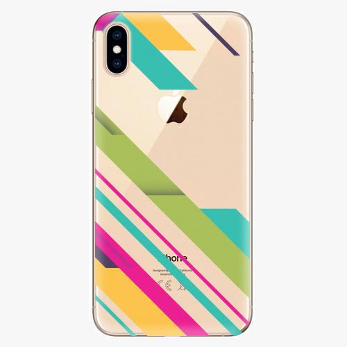 Silikonové pouzdro iSaprio - Color Stripes 03 na mobil Apple iPhone XS Max