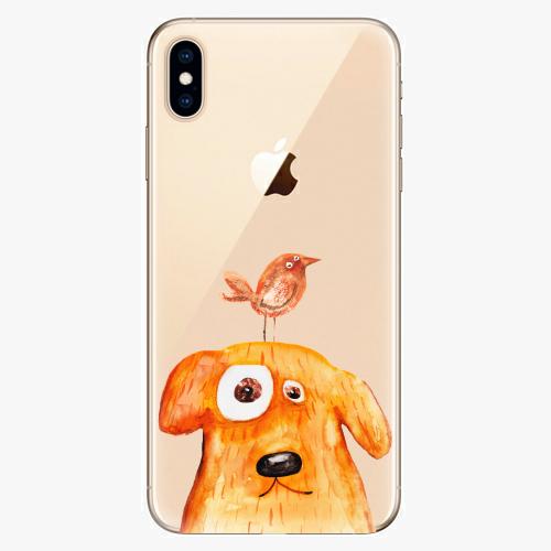 Silikonové pouzdro iSaprio - Dog And Bird na mobil Apple iPhone XS Max